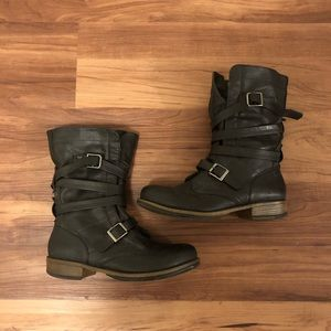 Crown Vintage Flannel Lined Combat Boots